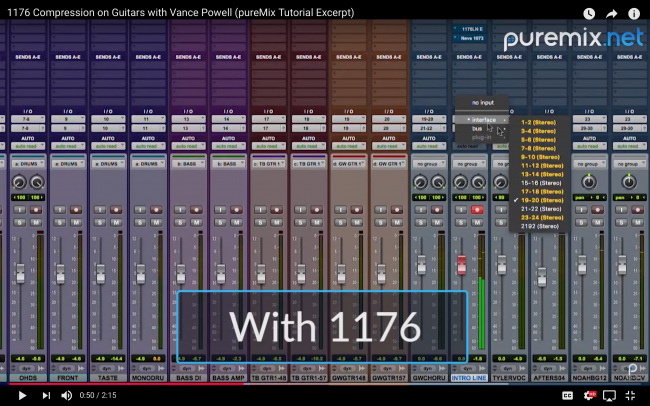 Pro Tools Screenshot with 1176