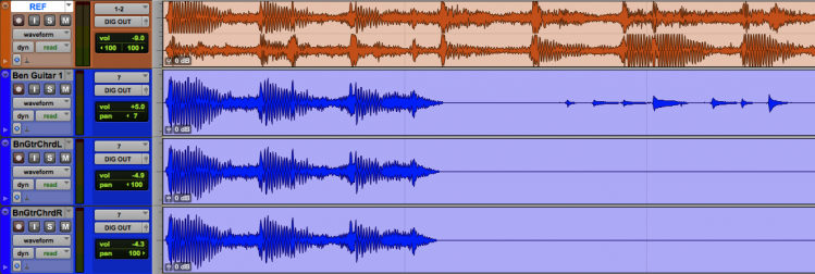 Copying a portion of the 2 track file for reference