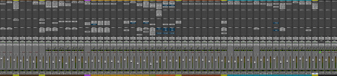 My Pro Tools session at the end of the mix