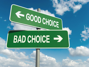 good choice bad choice signs