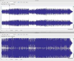 loud signal waveform