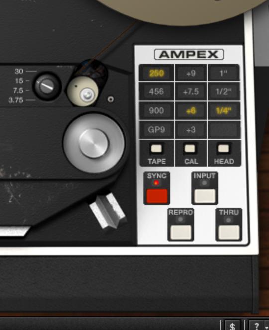 UAD Ampex ATR-102 Controls