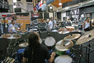 Metallica recording in studio