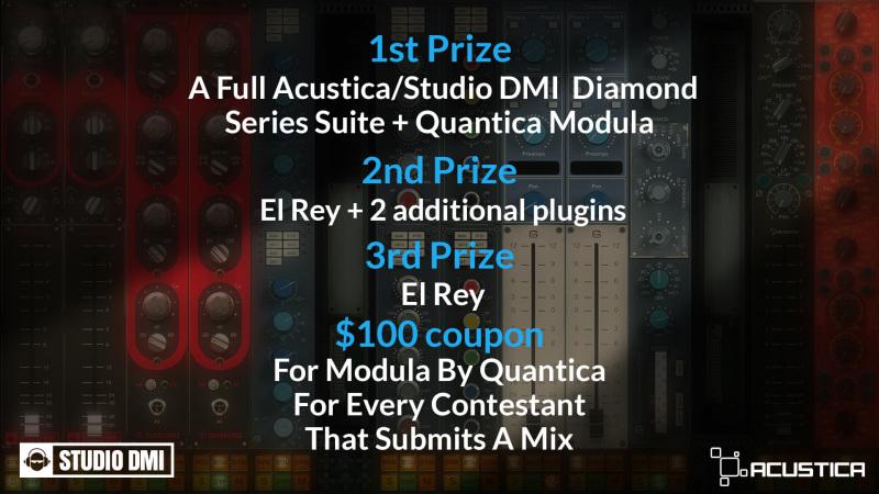 Win Big with Acustica Audio and Studio DMI
