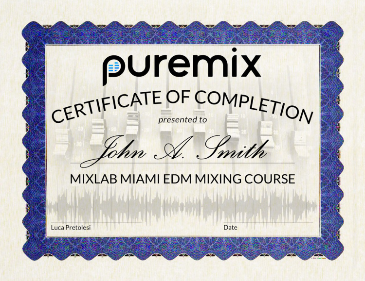 Pro Tools Advanced Editing Certificate
